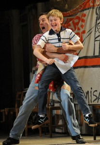 Scott as Billy and Craig Gallivan as his brother Tom (photo by Alastair Muir)