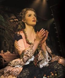 Anna O'Byrne as Christine in The Phantom of the Opera. Photo Credit Alastair Muir