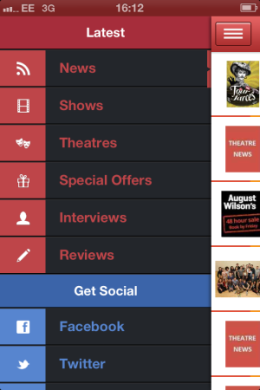 London Theatre App Navigation