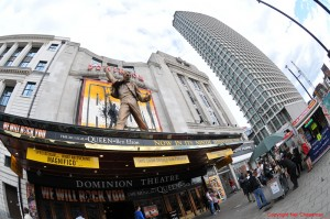 Dominion Theatre with We Will Rock You showing