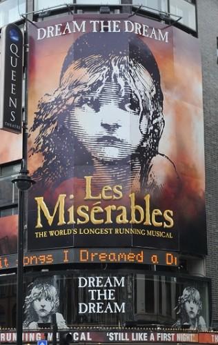 Queen' Theatre London with Les Miserables