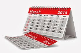 March Calendar 2014