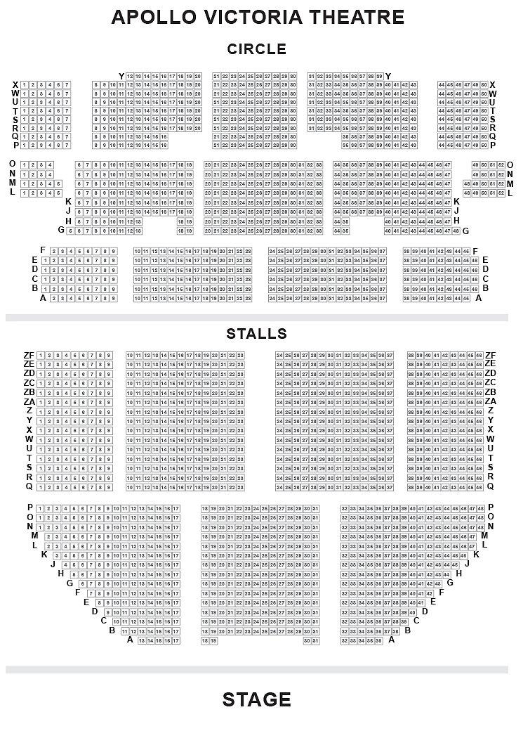 Apollo Victoria Theatre Seating Plan
