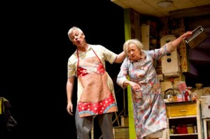 Deka Walmsley (Dad) and Ann Emery (Grandma) in Billy Elliot The Musical at the Victoria Palace Theatre.