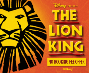 The Lion King No Booking Fee Offer