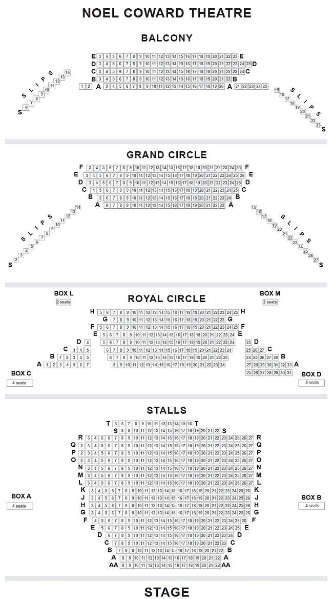 Noel Coward Theatre Seating Plan