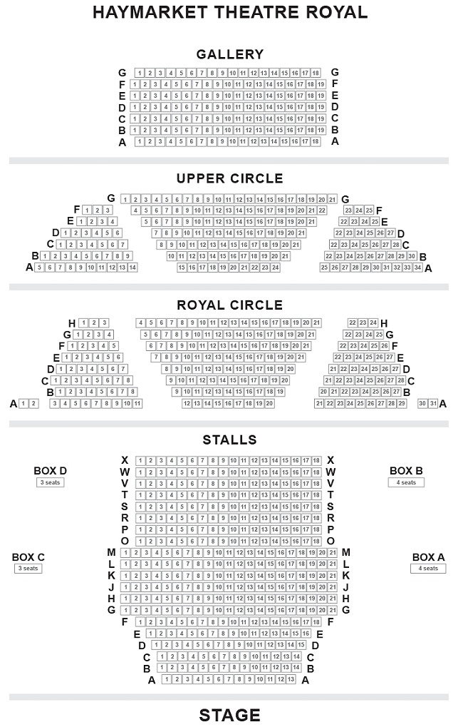 Theatre Royal Haymarket Seating Plan