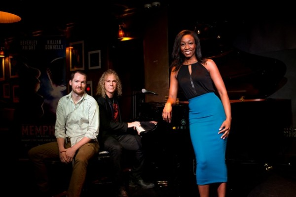 MEMPHIS London Launch Event. Killian Donnelly, David Bryan and Beverley Knight. Photo Helen Maybanks