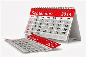 September Calendar 2014