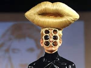This look may not be out of place on the catwalk, but wouldn't go down so well at the theatre