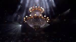 The chandelier drop in The Phantom of the Opera...iconic moment in the show and one of its 'catches'