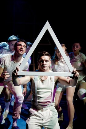 Ashley Birchall as Tommy and The Company in The Who's Tommy.