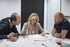 Jack Thorne, J.K. Rowling and John Tiffany. Photo by Debra Hurford Brown ©J.K. Rowling