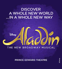 Aladdin The new Broadway Musical at the prince Edward Theatre