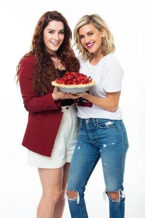 Waitress cast: Ashley Roberts and Lucie Jones. Photographer Simon Turtle
