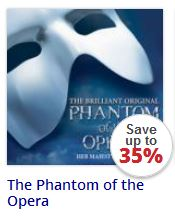 Phantom of the Opera tickets Her Majesty's Theatre London