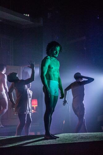 Kit Harington in Doctor Faustus. Running at the Duke of York's Theatre London until 25 June 2016 CREDIT Marc Brenner (2)