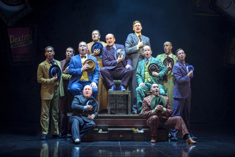 David Haig (Nathan Detroit) and the cast of Guys and Dolls - photo by Paul Coltas