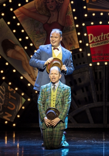 Gavin Spokes (Nicely Nicely Johnson) and Ian Hughes (Benny Southstreet) in Guys and Dolls - photo by Paul Coltas