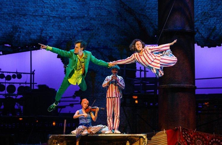 Peter Pan (Paul Hilton) and Wendy (Madeleine Worrall) in PETER PAN (c) Steve Tanner
