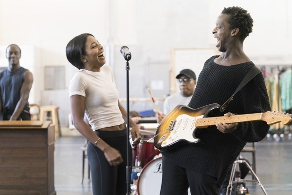 l-r Adrienne Warren (Tina Turner) and Kobna Holdbrook-Smith (Ike Turner). Photo Credit Johan Persson.
