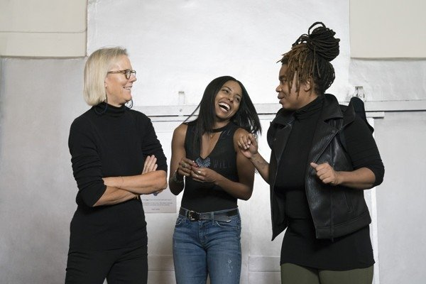 l-r Phyllida Lloyd, Adrienne Warren and Katori Hall. Photo Credit Johan Persson.