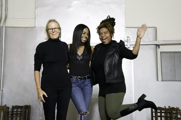l-r Phyllida Lloyd, Adrienne Warren and Katori Hall. Photo Credit Johan Persson