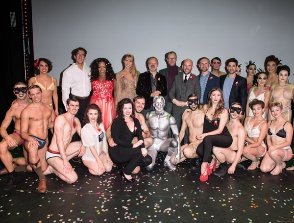 WEST END BARES. Company with Graham Norton and hosts. Photo Craig Sugden