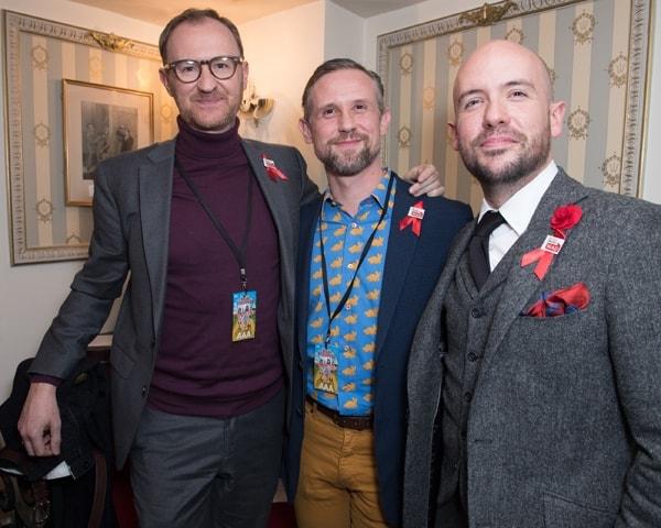 WEST END BARES. Mark Gatiss, Ian Hallard and Tom Allen. Photo Craig Sugden