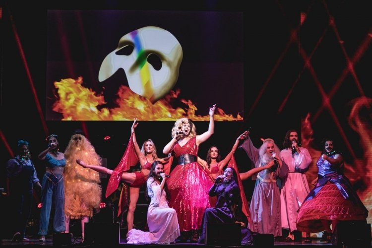 WEST END EUROVISION WINNERS! The Phantom of the Opera perform RISE LIKE A PHOENIX  Photo Darren Bell