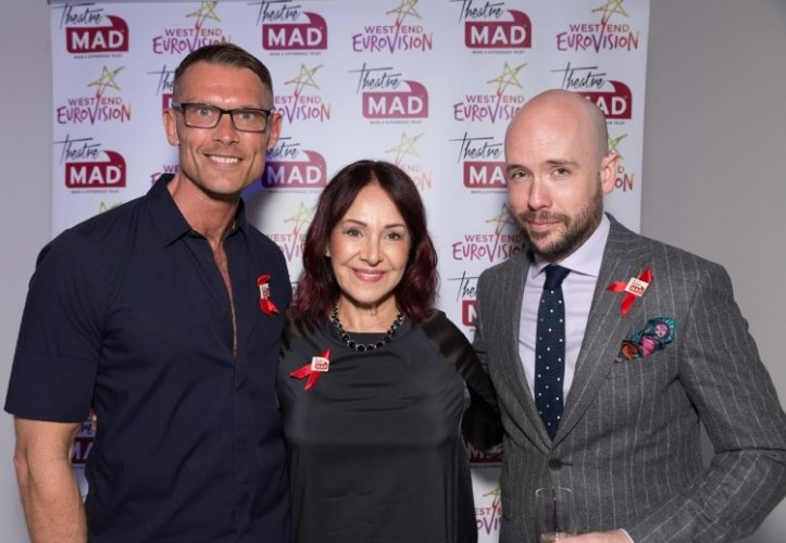 West End Eurovision Judges John Peacock Arlene Phillips Tom Allen Photo pbgstudios