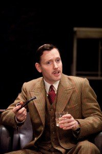 Rufus Wright as Richard Hannay in The 39 Steps