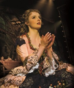 Anna O'Byrne as Christine in The Phantom of the Opera. Photo Credit Alastair Muir
