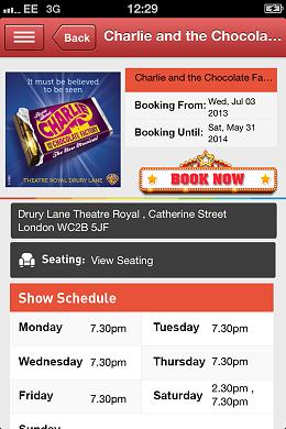 London Theatre App Show Page