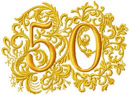 50 Years Gold Crest