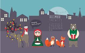 Christmas Cartoon Scene