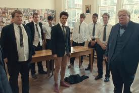 The original cast of The History Boys, the 2004 Alan Bennett play which has been named as the UK's favourite play in a pol by English Touring Theatre