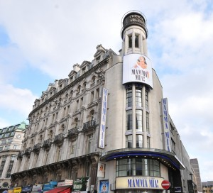 Prince of Wales Theatre London with Mamma Mia showing