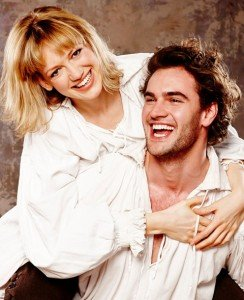 Tom Bateman and Lucy Briggs-Owen in Shakespeare in Love