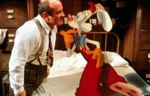 Bob Hoskins as Eddie Valiant in Who Framed Roger Rabbit?