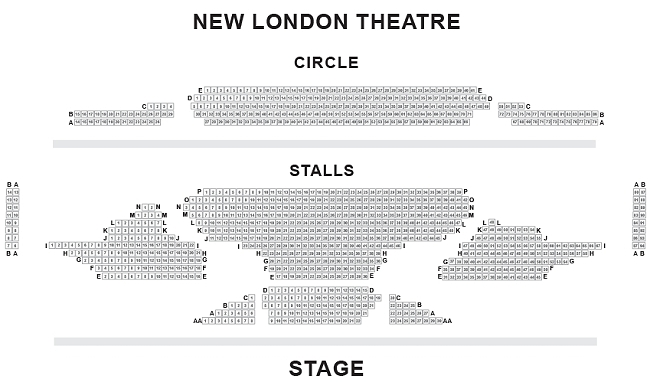 New London Theatre Seating Plan