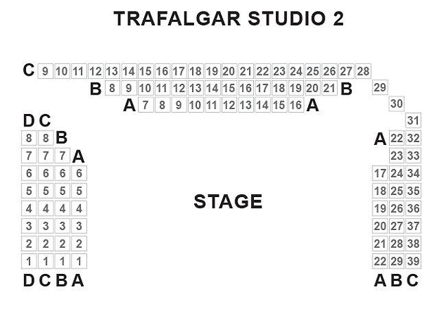 Trafalgar Studios TwoSeating Plan