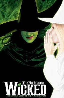Wicked musical at Apollo Victoria Theatre