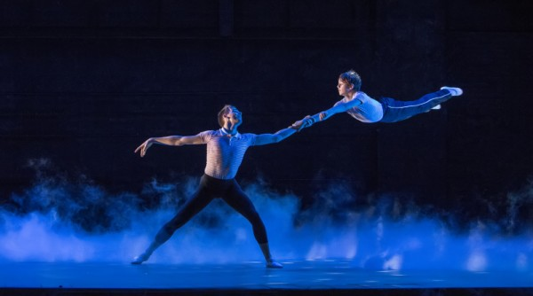 2.  l-r Liam Mower (Older Billy), Elliott Hanna (Billy Elliot) Billy Elliot The Musical Live, photo by Adam Sorenson_9220