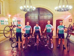 Company members from the West End production of The Phantom of the Opera are taking part in an overnight charity cycle event to raise funds for Macmillan Cancer Research on Saturday 9th May 2015