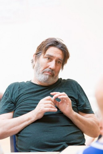 Ciarán Hinds (Claudius) in rehearsals for Hamlet Photo credit: Johan Persson