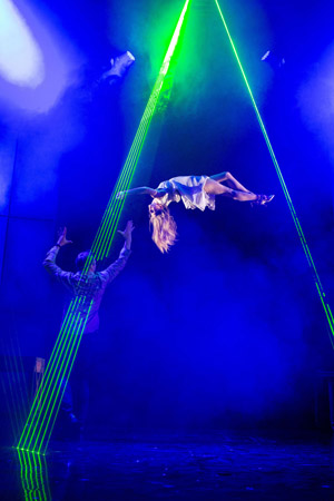 Jamie Allan and Josephine Wormall in Impossible at the Noel Coward Theatre
