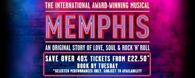 Book Memphis The Musical Tickets