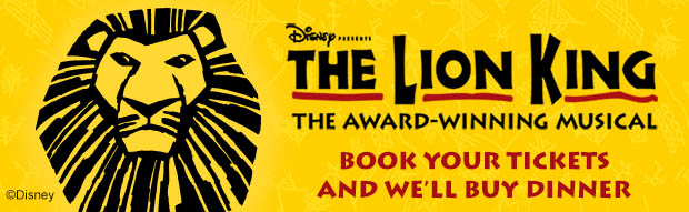 The Lion King Dinner and Show Offer
