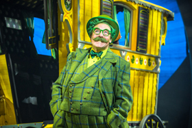 Rufus Hound as Mr Toad in The Wind in the Willows UK tour. Photo by Marc Brenner Jamie Hendry Productions